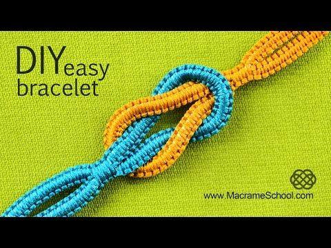 Easy Infinity Square Knot Yin Yang Friendship Bracelet Tutorial « Jewelry