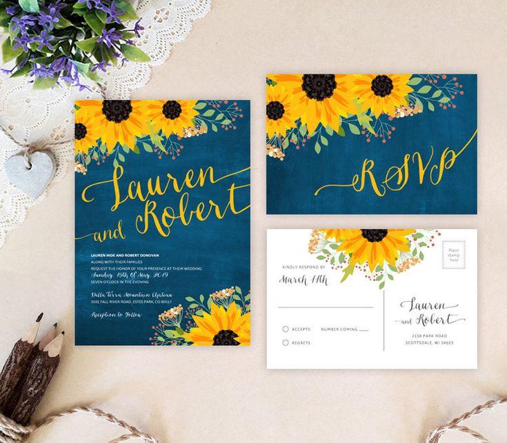 Sunflower Wedding Invitations # 21.2