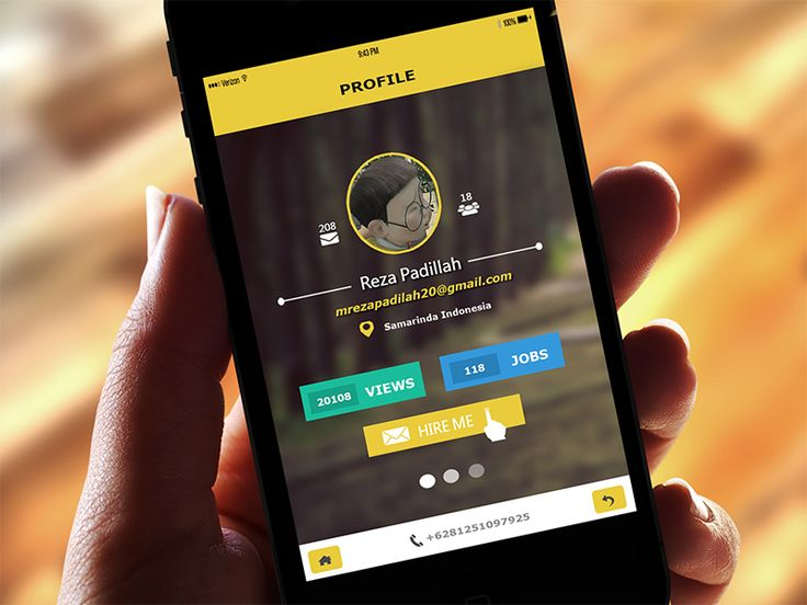 Profile Mobile App by Reza Padillah