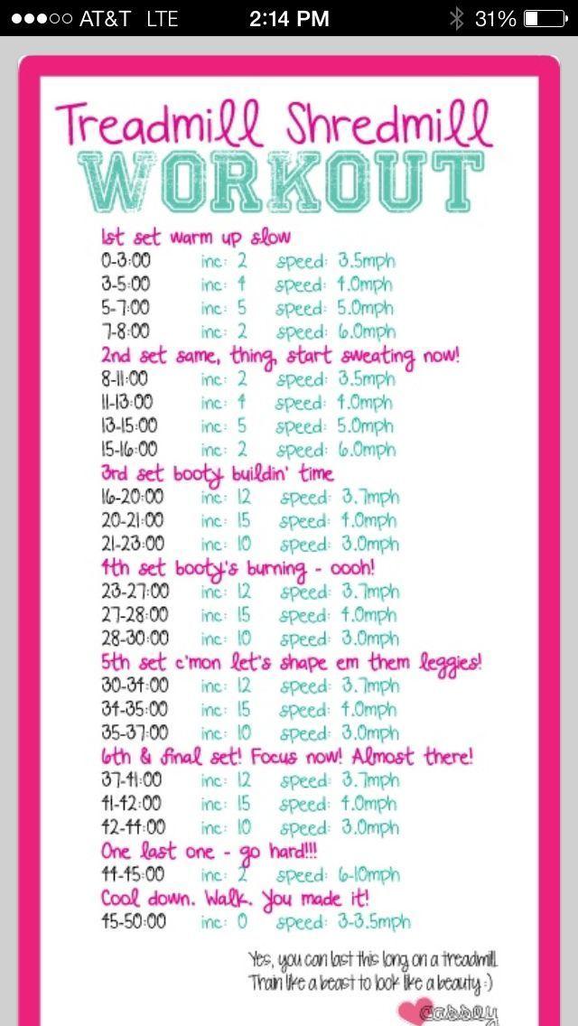 Treadmill workout 50 minutes