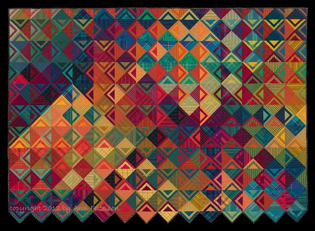 """Basket Weave II: See Saw, 56"""" x 78"""", c. 2012 by Ann Feitelson.  1st prize, 2012 AQS Quilt Show and Contest - Des Moines, Iowa"""