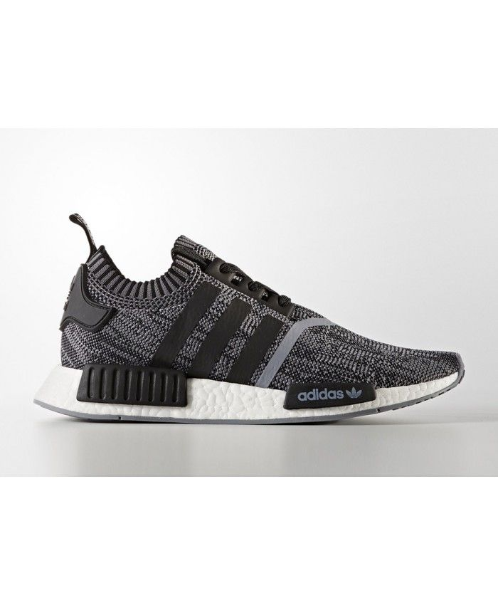 Adidas Nmd R1 Pk July Grey Black Stripe Trainers For Cheap
