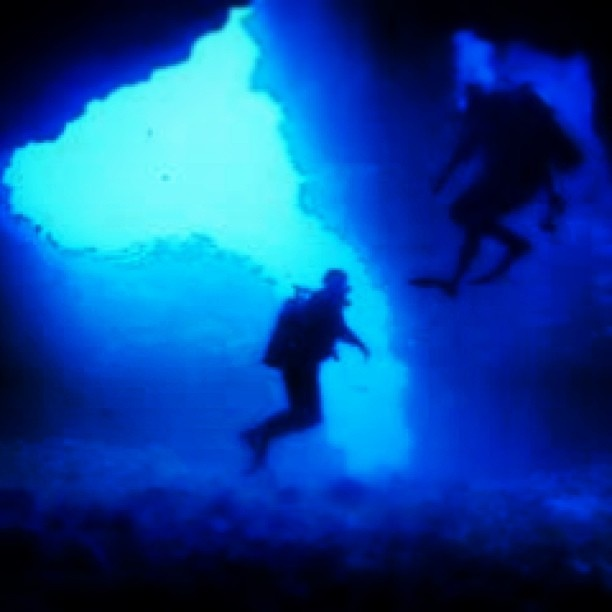 Cave diving First Cathedrals off Lanai, Hawaii