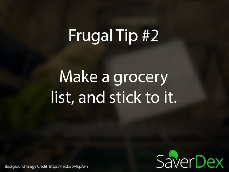 Frugal Tip #2: Make a grocery list, and stick to it. #frugal