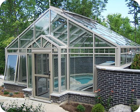 302 best images about swimming pools on pinterest for Greenhouse over swimming pool
