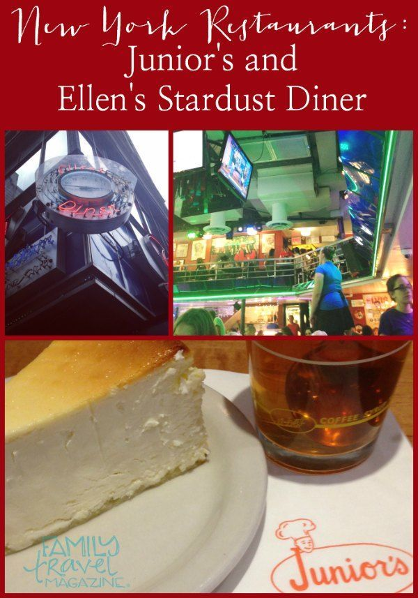 Junior's Cheesecake and Ellen's Stardust Diner – NYC Restaurants