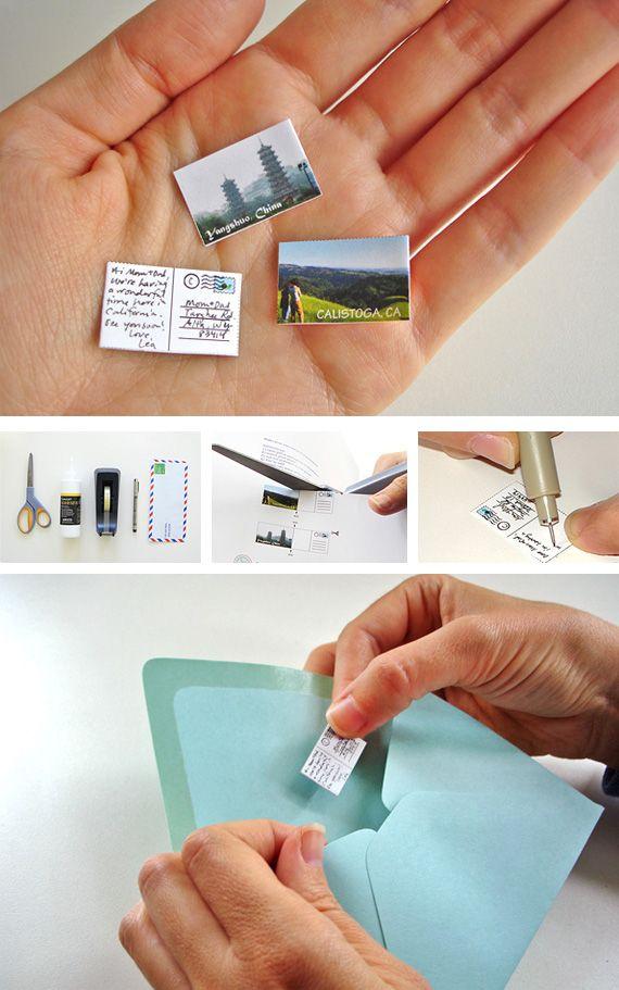 Mini postcards - too cute!