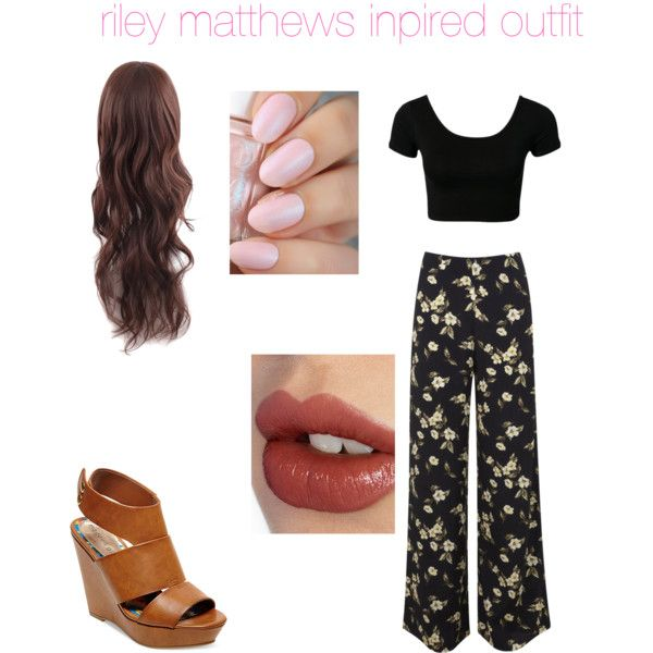 riley matthews inspired outfit by kassidybongen on Polyvore featuring Miss Selfridge, Madden Girl and Charlotte Tilbury