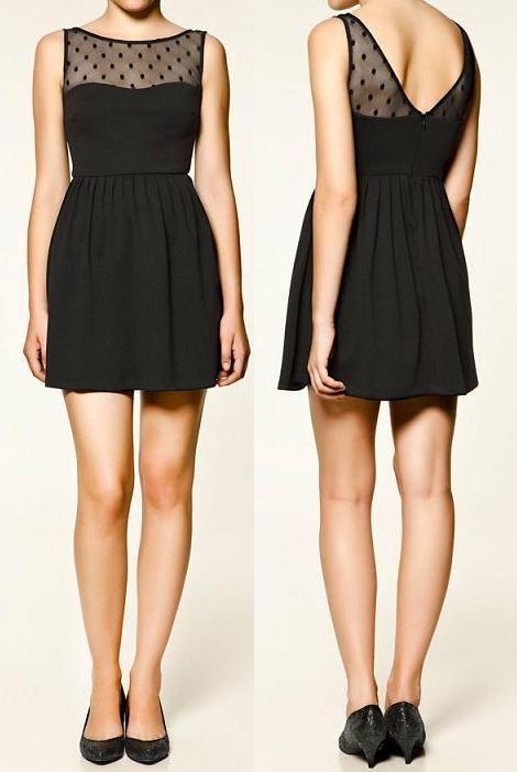 Transparencia elegante :) Vestido negro