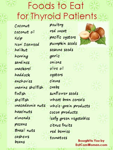 List of Foods to Eat for Thyroid Patients