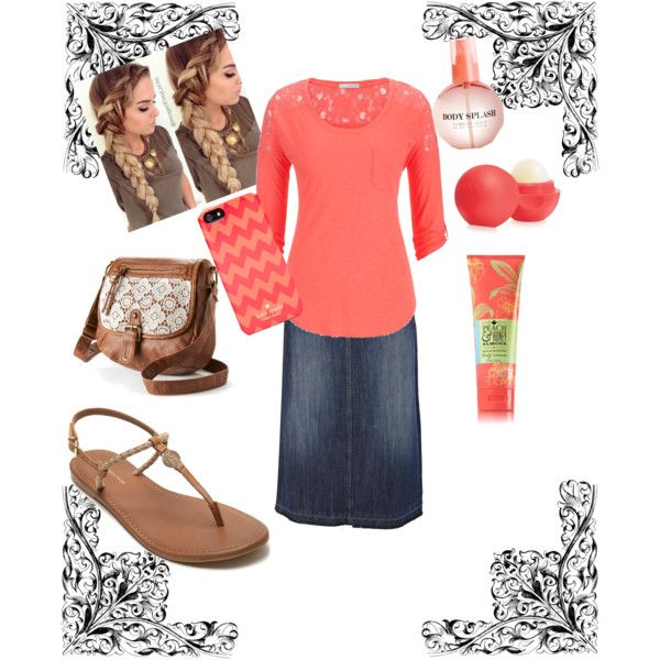 A fashion look from April 2015 featuring maurices t-shirts, Oasis skirts and Tommy Hilfiger sandals. Browse and shop related looks.