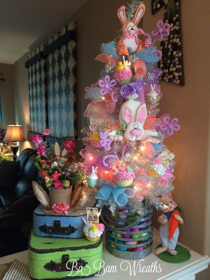 Easter Decor, Spring Decor, Easter Tree, Spring Tree by Ba Bam Wreaths