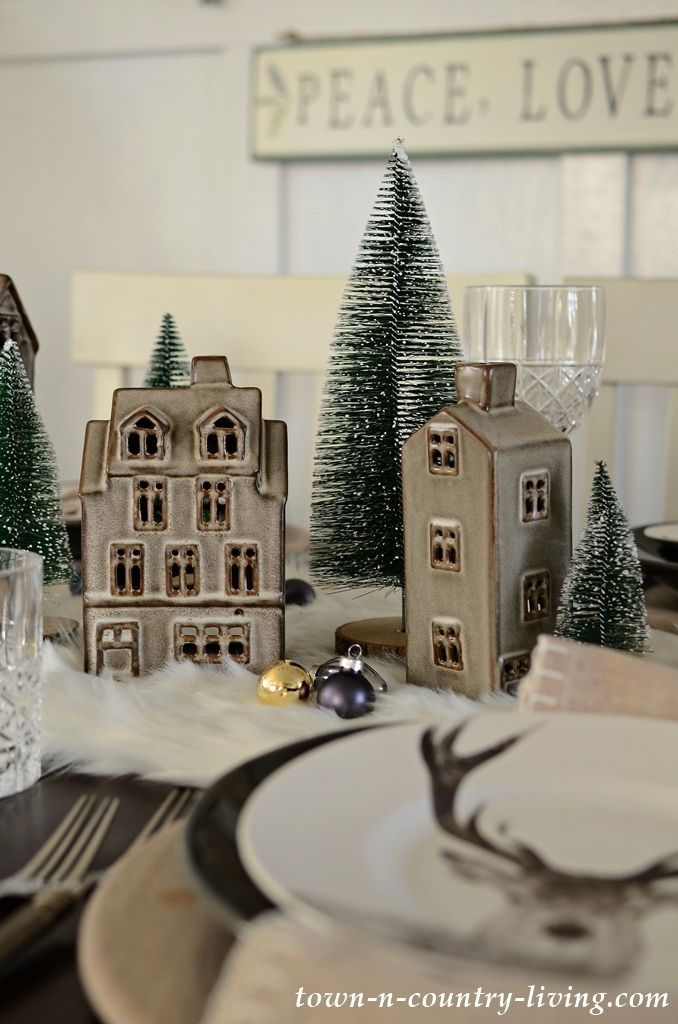 Christmas Table Setting Modern Country Style Christmas Table Settings Christmas Table Modern Country Style