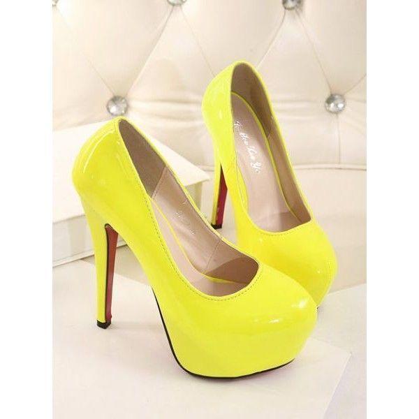 Best 25  Yellow high heels ideas on Pinterest | Yellow heels ...