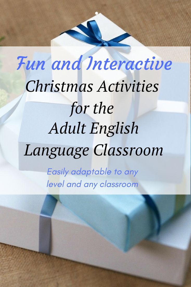 Fun and adaptable Christmas activities for Adult ESL students. Use it in your ESL, EFL TESOL, TEFL classroom!