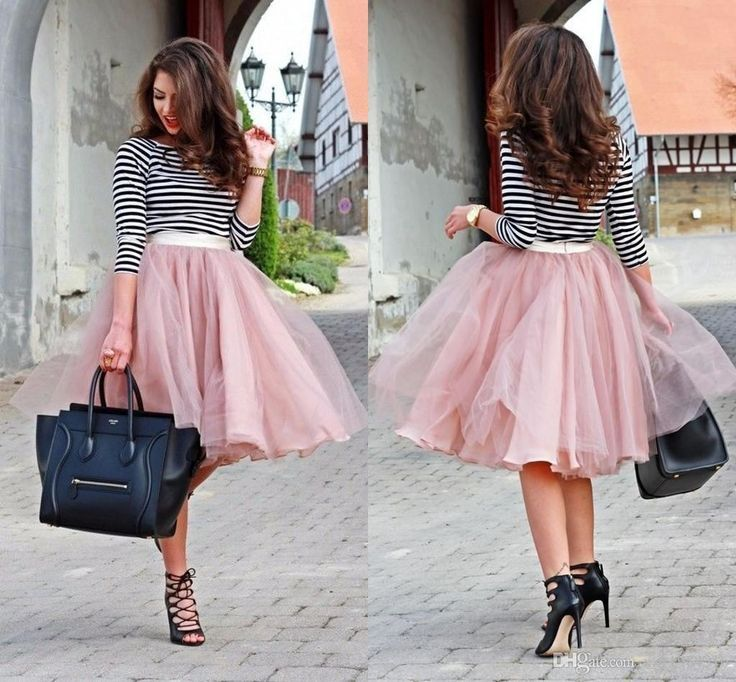 Dusty Pink ChiffonTulle Piping Skirts Cheap Custom Made Short Street Fashion Ruched Spring Skirt For Women Tutu Party Ball Gown