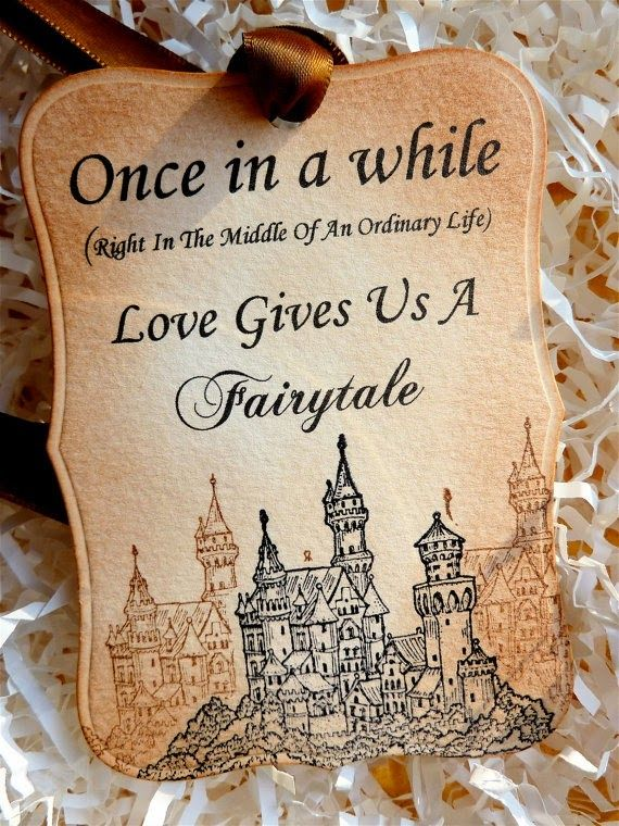 """Once in a while right in the middle of an ordinary life, love gives us a fairytale"" These cards are so precious! Your guests will be quite impressed with these intricately cut invitations with your and your loved one's fairytale story printed inside! Love it!"