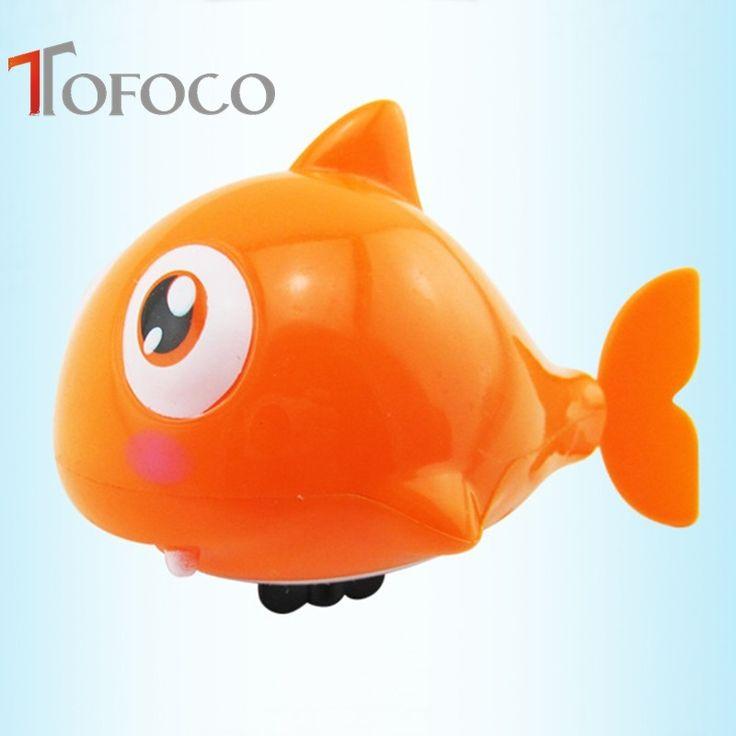 TOFOCO Hot Sale Funny Clockwork Bathing Toys Cute Plastic Swimming Sharks Fish Pool Bath Toys