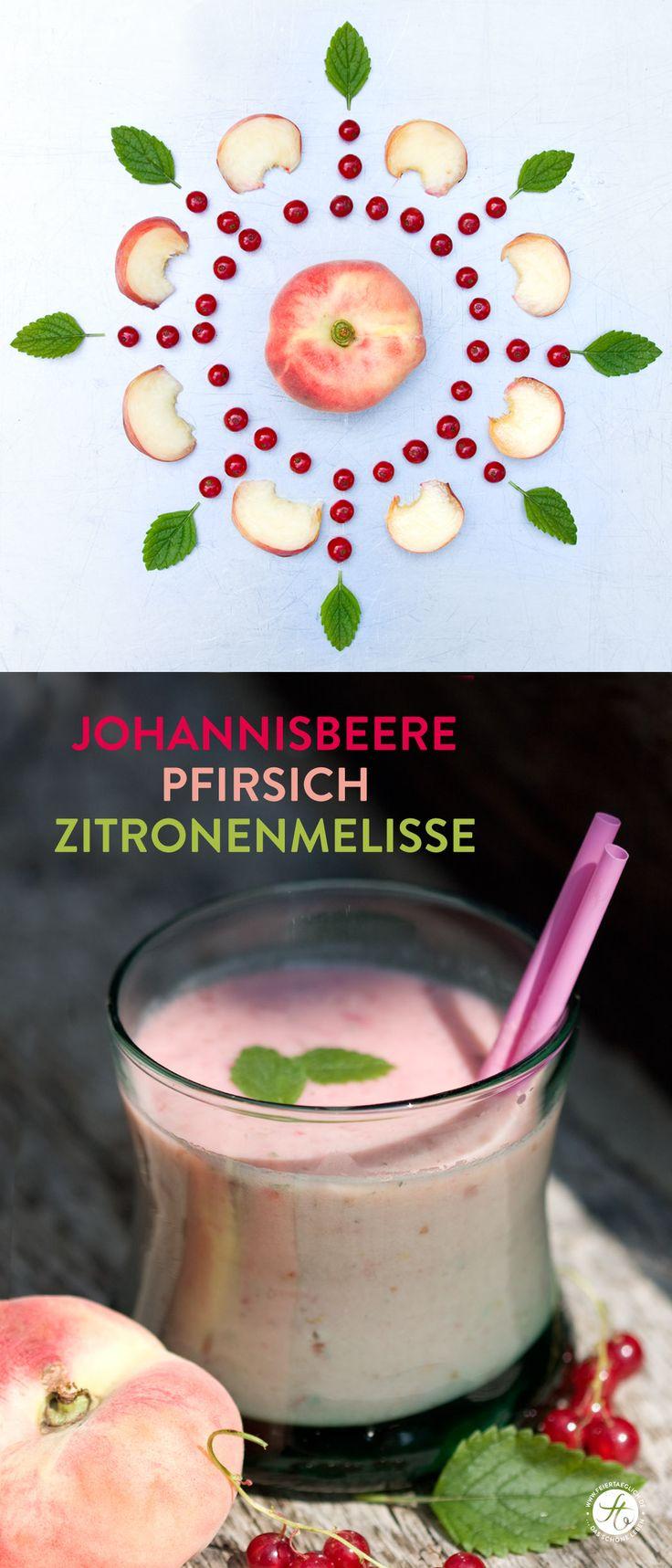 SmoothieMontag Johannisbeere-Pfirsich-Zitronenmelisse Smoothie #feiertaeglich #smoothiemontag