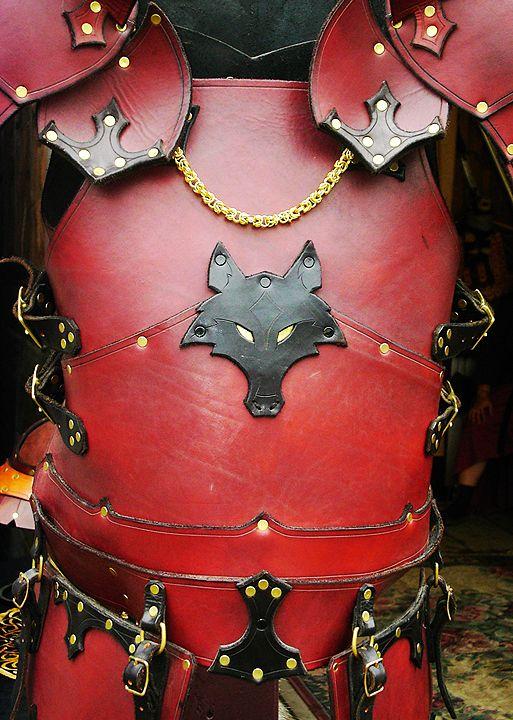Gothic Wolf Breastplate by Dmitriwolf.deviantart.com on @DeviantArt