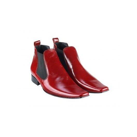 Pánske topánky - červené - manozo.hu