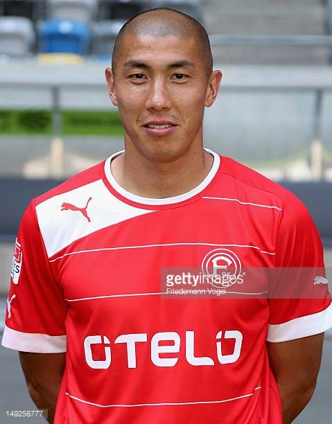DuRi Cha poses during the Fortuna Duesseldorf Team Presentation on July 25 2012 in Duesseldorf Germany