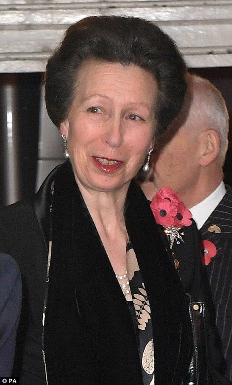 Princess Anne, the Princess Royal attends the Royal British Legion Festival of Remembrance 12 Nov 2016