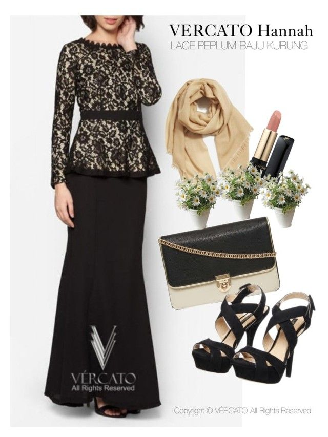 """""""VERCATO Hannah Baju Kurung Moden"""" in black and also available in navy blue. SHOP NOW: http://www.vercato.com/VERCATO-HANNAH-LACE-PEPLUM-BAJU-KURUNG-BLACK"""