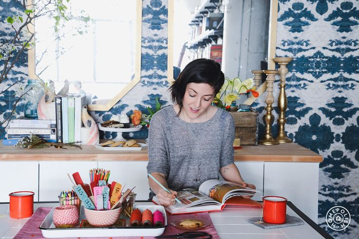 Interview: Grace Bonney, Design*Sponge by @homepolish New York City  (but pinned for the composition/color)