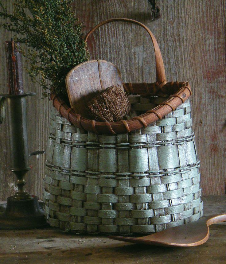ebay. http://myworld.ebay.com/yesterdaysdays  Tabletop To Wall Robins Egg Blue Primitive Basket