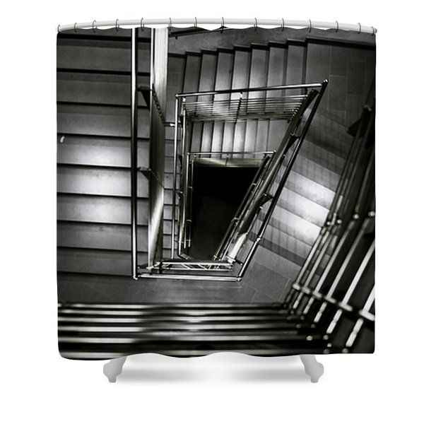 Don't Look Back Shower Curtain by Cesare Bargiggia