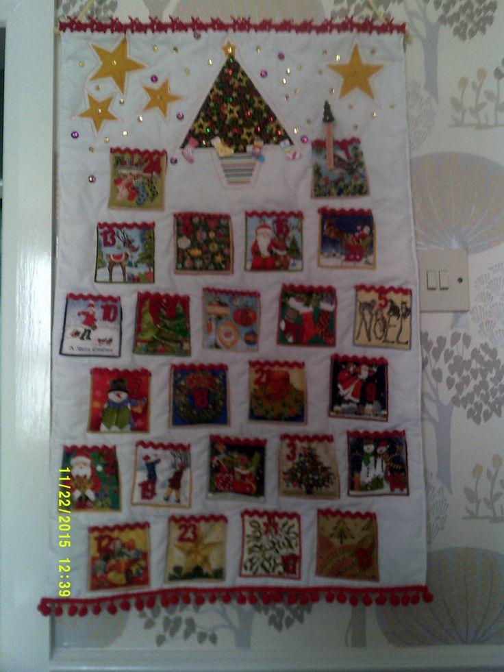Made this advent calendar for my friends grandchild.