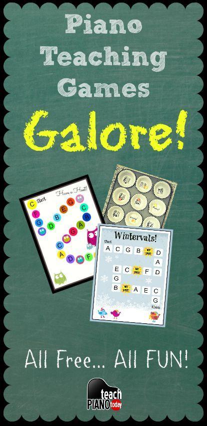 29 Free piano teaching games, printables, ideas and more! | http://teachpianotoday.com #pianoteachingames #pianostudio