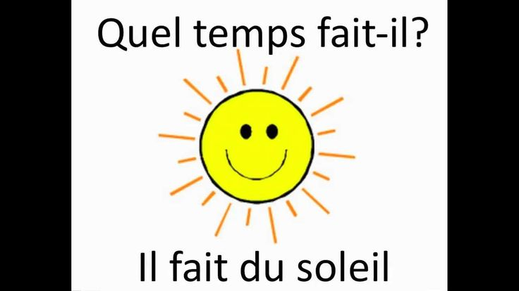 Chapter 11 - (Quel temps fait-il?) This video is a song that goes through many of  the weather terms we learned.