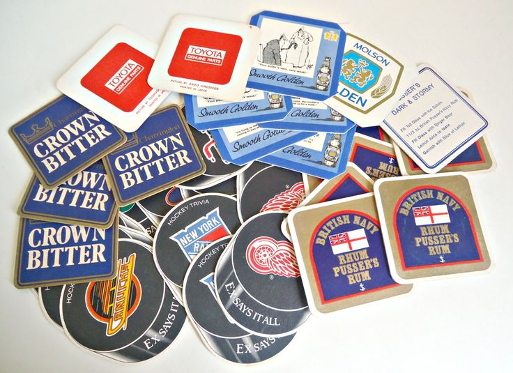 Vintage 30 Beer Coasters Instant Collection   Beer Mat by TreasureCoveAlly on Etsy