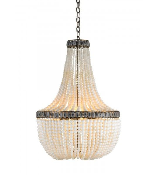 Hedy Cream Chandelier by Currey and Company | Vintage Inspired Lightning
