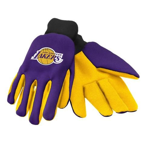 Los Angeles Lakers 2015 Utility Glove - Colored Palm #LosAngelesLakers