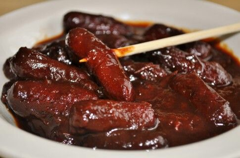Cocktail Hot Dogs Grape Jelly Mustard