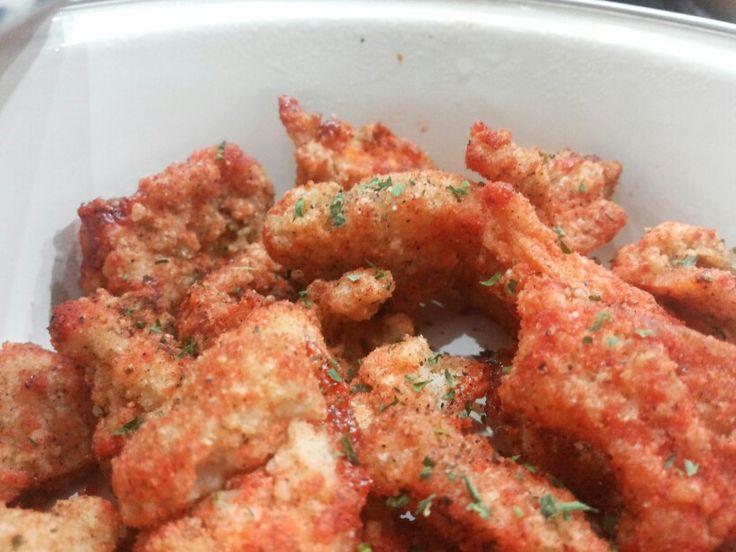Pop chicken with parsley
