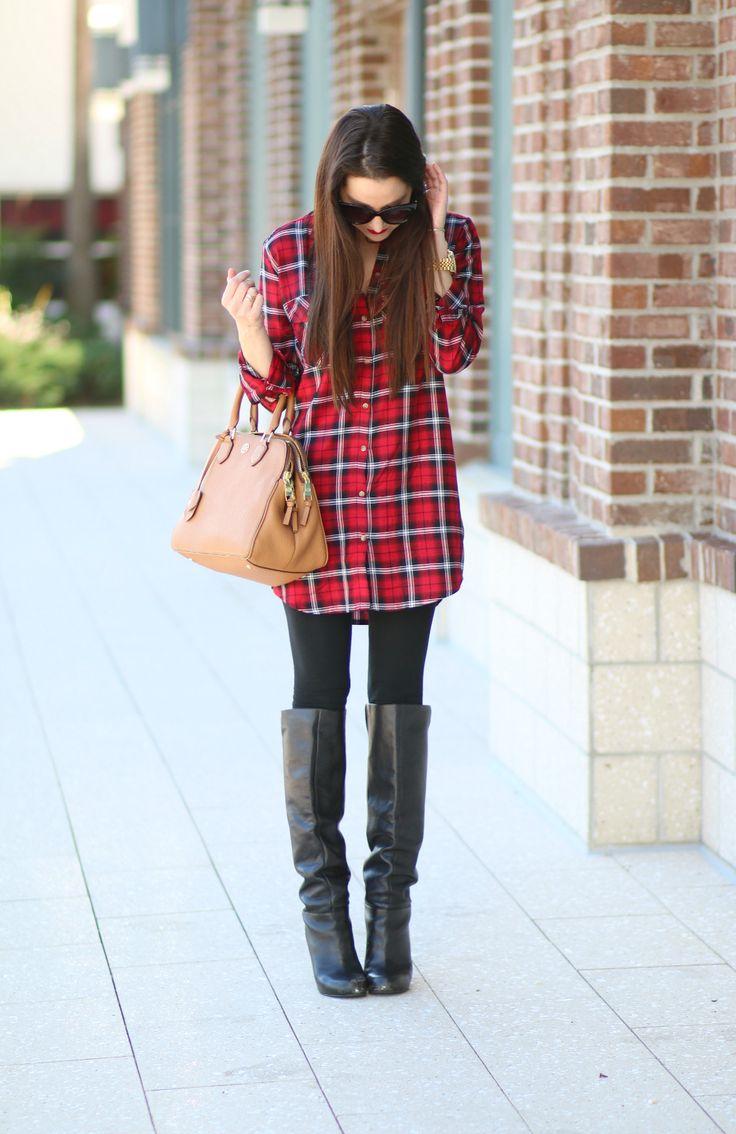 Red Plaid Shirt Dress, Plaid Shirt Dress, Winter Fashion, Crest Whitestrips, Stephanie Ziajka, Diary of a Debutante