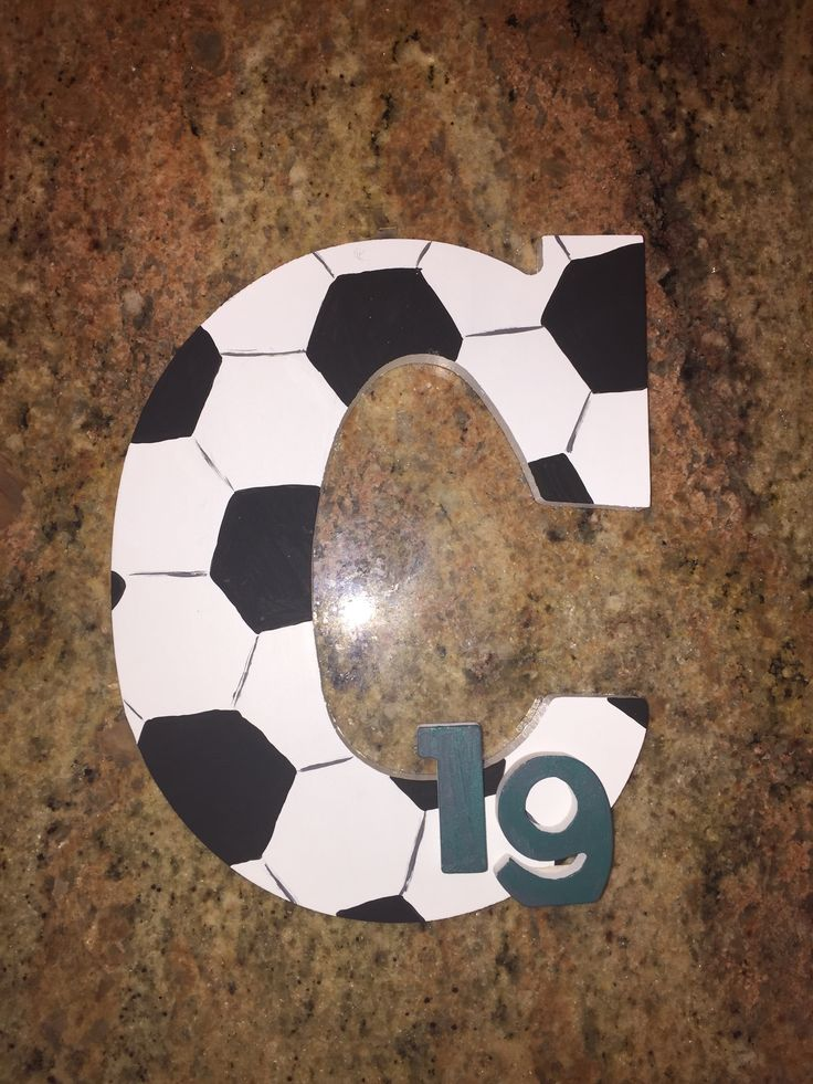 Cute for any soccer star! Just a wooden letter painted and small wooden numbers to add!