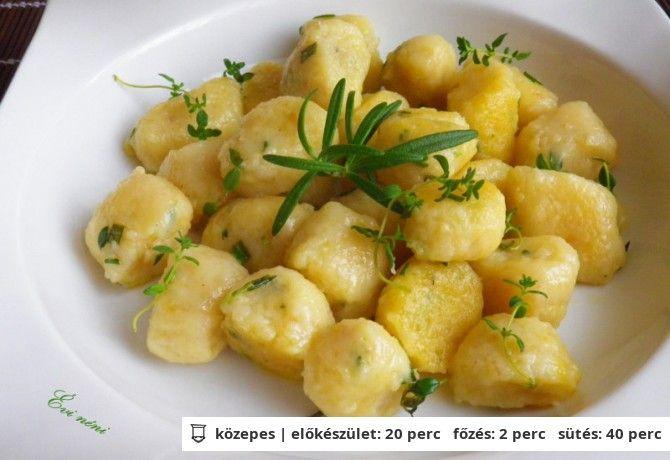 Zöldfűszeres gnocchi újkrumpliból