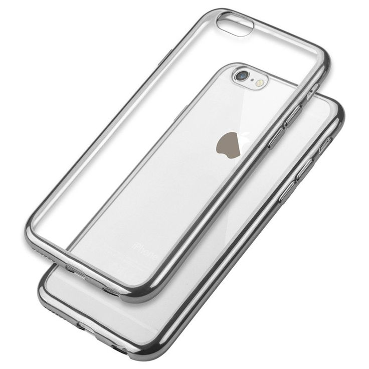 Ultra thin Transparent protect back cover Electroplating Soft TPU Phone Cases Cover For iPhone 5 5S SE 6 6S 6Plus 7 Plus case