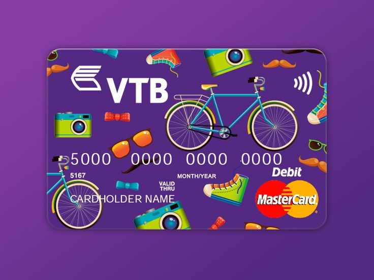 Credit card concept for VTB Bank