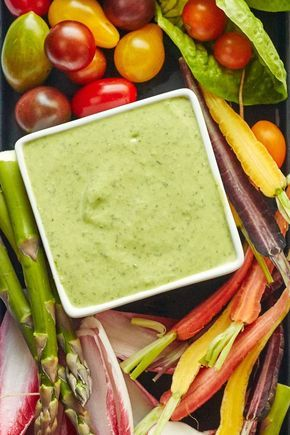 Simple Panera Bread Copycat Recipe: Healthy Green Goddess Dressing. If you're looking for easy creamy recipes to top your work lunch salads, this is it! This healthy homemade dressing calls for mayonnaise made from scratch (or store bought!), sour cream, greek yogurt, olive oil, parsley, chives, tarragon, anchovy paste, and garlic.