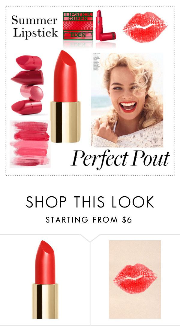 """Untitled #155"" by elenarudometov ❤ liked on Polyvore featuring beauty, NYX, Rossetto, Lipstick Queen and summerlipstick"