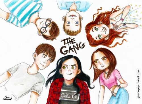 """i-dream-of-emus: """"justalittleloli: """"#MyMadFatDiary #Thegang """" Please don't repost artwork - reblog it from the artist@givemeapaper's blog! That way, their work and their blog get the credit and exposure they deserve! (I'll reblog the original post in..."""