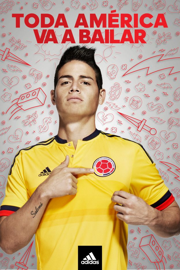 Let the dance party begin! adidas unveils new Colombia home jersey for Copa America.