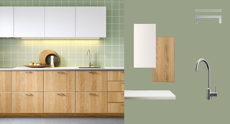 Pinspiration from IKEA's new METOD kitchen, HYTTAN doors