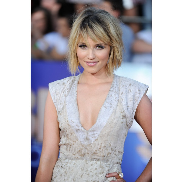 Dianna Agron Short, Layered, Bob with Bangs - Beauty Riot found on Polyvore